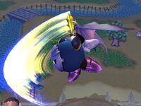 Ataque aéreo trasero Meta Knight SSBB