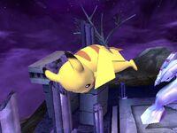 Ataque aéreo trasero Pikachu SSBB