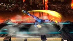Ataque de recuperación desde el suelo (boca arriba) de Samus Zero (2) SSB4 (Wii U)