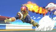 Captain Falcon usando Salto predador SSBU