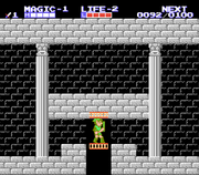 Interior del Palacio Parapa Zelda II The Adventure of Link