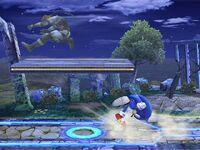 Lanzamiento trasero Sonic SSBB