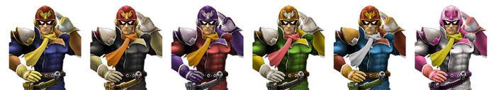 Paleta de Colores Captain Falcon SSBB