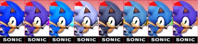 Paleta de colores de Sonic SSB4 (3DS)