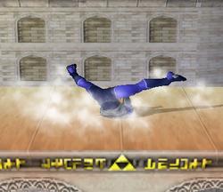 Ataque Smash hacia abajo de Sheik (2) SSBM