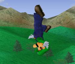 Ataque aéreo hacia arriba de Luigi SSBM