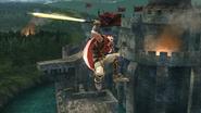 Ataque aéreo superior de Ike (1) SSB4 (Wii U)