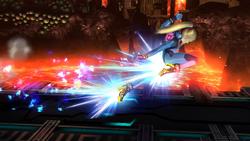 Ataque en carrera de Samus Zero SSB4 (Wii U)