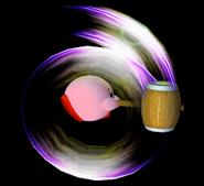 Kirby usando Martillo en el aire SSBM