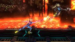 Lanzamiento delantero de Samus Zero (2) SSB4 (Wii U)