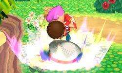 Lanzamiento hacia abajo Aldeano (2) SSB4 (3DS)