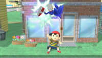 Lanzamiento hacia arriba Ness (1) SSB4 (Wii U)