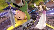Toon Link y Zelda en el Campo de batalla SSB4 (Wii U)