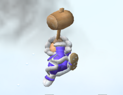 Ataque aéreo hacia arriba de Ice Climbers SSBM