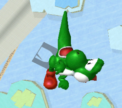 Ataque aéreo hacia arriba de Yoshi SSBM