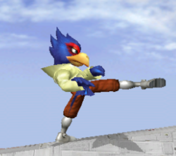 Ataque fuerte lateral de Falco SSBM