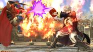 Daraen usando Arcfire contra Ike en el Coliseo SSB4 (Wii U)