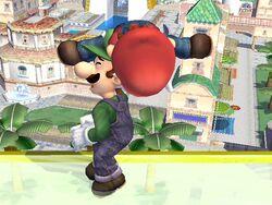 Lanzamiento hacia abajo (2) Mario SSBB