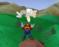 Lanzamiento hacia arriba de Mario (2) SSBM