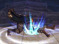 Lanzamiento inferior Ganondorf SSBB