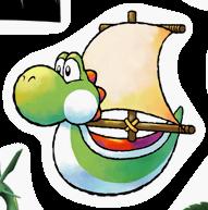 Pegatina de Barco de Yoshi SSBB