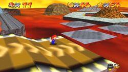 Rampas en Lethal Lava Land en Super Mario 64