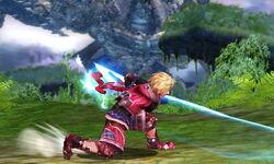 Ataque fuerte inferior Shulk SSB4 (3DS)