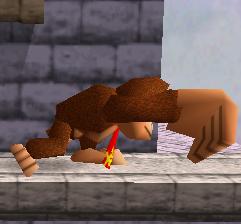 Ataque fuerte lateral de Donkey Kong SSB
