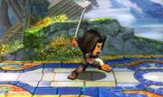 Burla lateral Espadachín Mii SSB4 (3DS) (2)