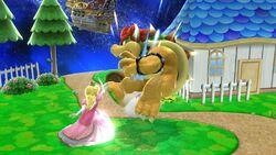 Lanzamiento hacia adelante Peach SSB4 Wii U