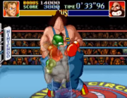 Little Mac dando un Gancho noqueador en Super Punch-Out!! (SNES)