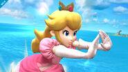Peach usando su Ataque rápido SSB4 (Wii U)