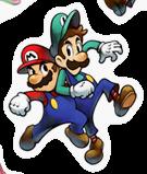 Pegatina de Mario y Luigi SSBB