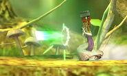Zelda usando la Pistola de rayos SSB4 (3DS)