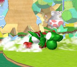 Ataque de recuperación de cara al suelo de Yoshi (1) SSBM