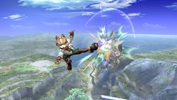 Fox Ataque Aereo hacia adelante, segundo golpe-SSBB