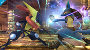 Greninja contra Lucario SSB4 (Wii U)