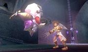 Huerrero luchando contra Pit en Kid Icarus Uprising