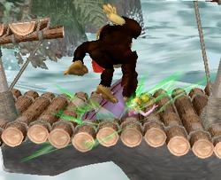 Lanzamiento hacia abajo de Donkey Kong (2) SSBM
