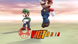 Pose de victoria hacia abajo (1) Mario SSBB