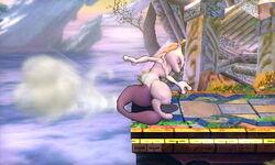 Ataque de recuperación del borde Mewtwo (4) SSB4 (3DS)