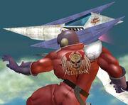 Captain Falcon y un Arwing SSBM