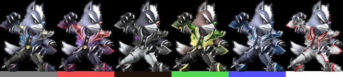 Paleta de Colores Wolf (SSBB)
