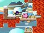 Kirby y TAC en Kirby Super Star Ultra