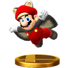 Trofeo de Mario ardilla voladora SSB4 (Wii U)