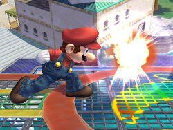 Ataque Smash lateral hacia adelante Mario SSBB