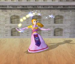Ataque fuerte hacia arriba de Zelda SSBM