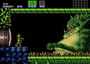Batalla contra Kraid en Super Metroid