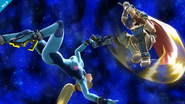 Ike realizando el Aether SSB4 (Wii U)