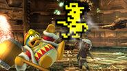 Toon Link y el Rey Dedede junto al Sheriff SSB4 (Wii U)